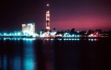 Cairo Tower at Night Along the Nile