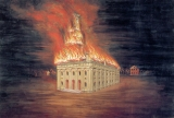 """Mormon Panorama Seventeen/Burning of the Temple"""