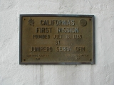 San Diego Mission Plaque
