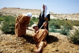 BYU Student Reenactment of Abraham and Isaac Digging for Water