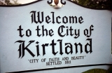 Sign: Welcome to the City of Kirtland