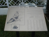 Brooklyn Ship Marker at Oakland Temple--Close-up