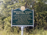 Vermont State Marker, Brigham Young Birthplace (Close-up)
