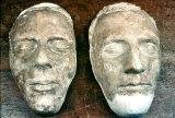 Death masks of Joseph and Hyrum Smith