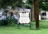 Colesville, New York sign