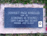 Harriet Wheeler Young grave