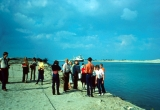 Public.Suez Canal with BYU Students Watching Convoy of Ships