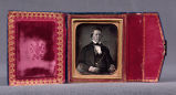 [Inside cover of daguerrotype portrait of Brigham Young]