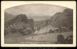 Gateway to the Garden of the Gods, Pike's Peak in the Distance, D. & R.G. Ry., Colo, C.R....