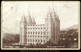 Mormon Temple, Salt Lake C.R. Savage Photo