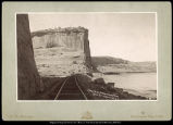 Dodge's Bluff, Canon of Grand River, R.G.W.Ry. (Rio Grande Western Railway)  C.R. Savage, Salt...