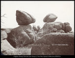Plum Pudding Rocks, Sherman, U.P.Ry. C.R. Savage Photo, Salt Lake.