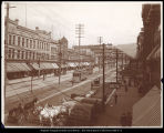 West side of Main St. Salt Lake City. Looking N.W.  C.R. Savage Photo.