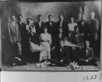 Victor Orville Hegsted. 5th from left on back row. Ricks Academy Prepatory class.