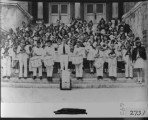 Driggs School band, 1946. District contest at Rigby.