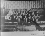 Leigh School 1911. Names of pupils in souvenier program, 32listed only 25 in picture. Willie...