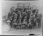 Victor Band, 1921. L to R, front row: Leanard Hatch, Alvin McDonald, Carl Brower, Carlos...