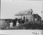 Joseph Ailas Hillman's home in Darby. Blackhurst Girl, Blackhurst Boy, Edith Hillman and Joseph...