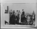 Railroad day in Driggs, Sep 12, 1912. D.C. Driggs, J. D.Killpack, Albert Choules with back turned,...