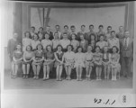 School Class 1945-46, Driggs Elementary 8th grade, G. FrankKnight, Teacher. Front row: Geneive...