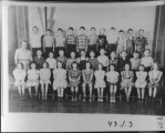 School Class 1949, Driggs Elementary 4th grade, Chrystal Phillips (teacher). Top row: Grant...