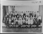 School Class, Driggs Elementary, Elva Delaney (teacher). Top row: Tyrone Stull, Bill Harris, Jim...