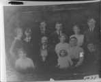 Gotlieb Zohner family. L to R, front row: Lydia Zohner (Schiers) LUrich, (he had a twin) Betty,...