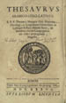 Obizzino, Tommaso, fl. 1630. Thesaurus arabico-syro-latinus. (Romae : Sac. Congregationis de propag. fide, 1636);
