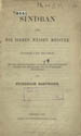 Sindban, oder. Die sieben weisen Meister syrisch und deutsch. (Leipzig : Druck von Hundertstund & Pries, 1878);