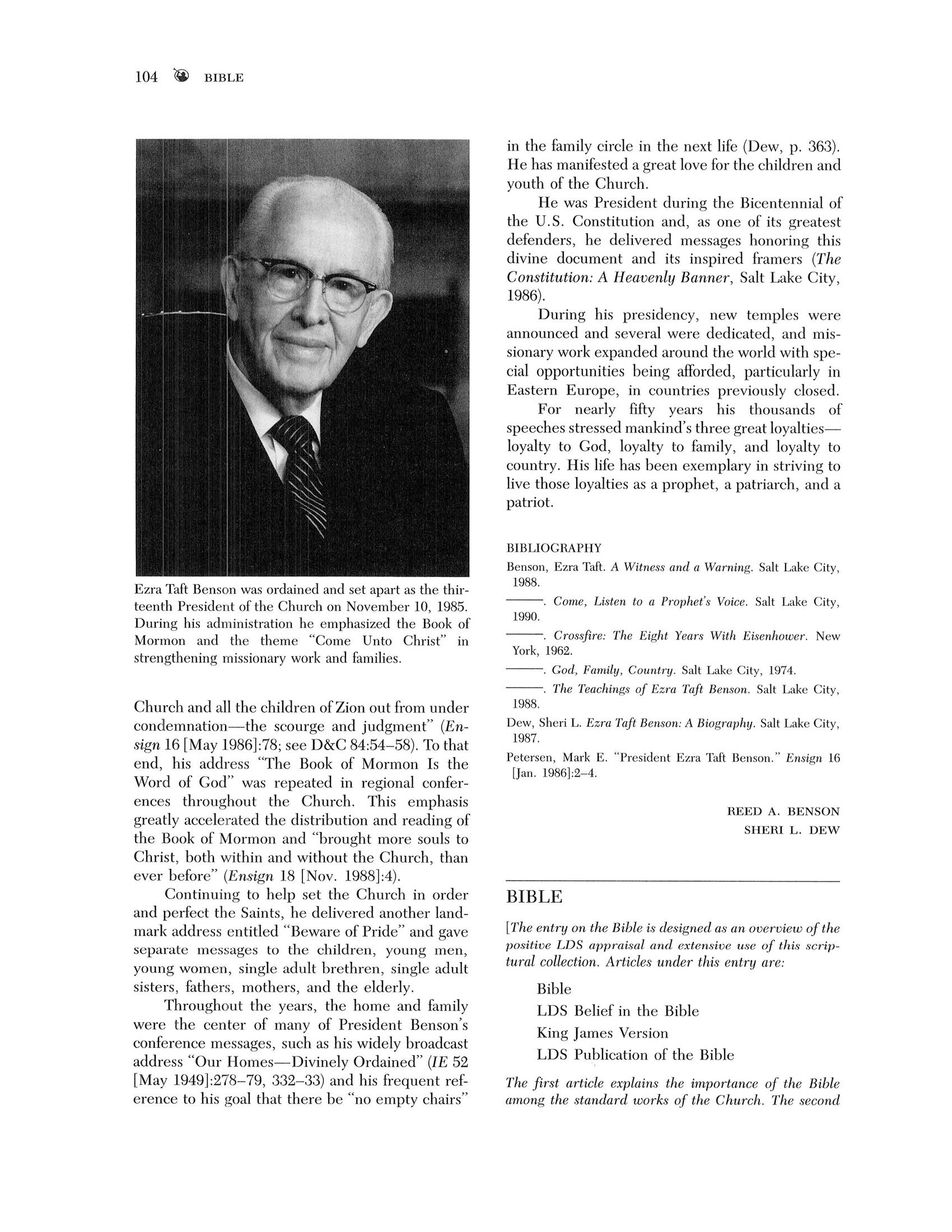 Bible - Encyclopedia of Mormonism - Digital Collections