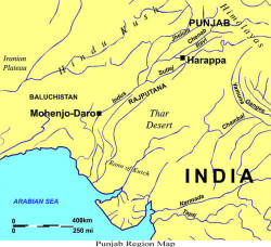 Punjab Region Map