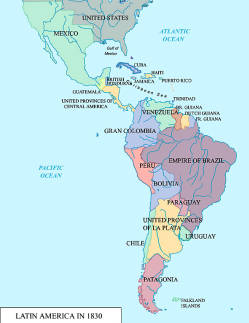 1830 Us Map.Map Of Latin America In 1830 Civilization Digital Collections