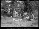 Lovenia Beard, Arthur Beard, Paul Beard, Edgar Beard - mouth of Hoback River, Jackson Hole